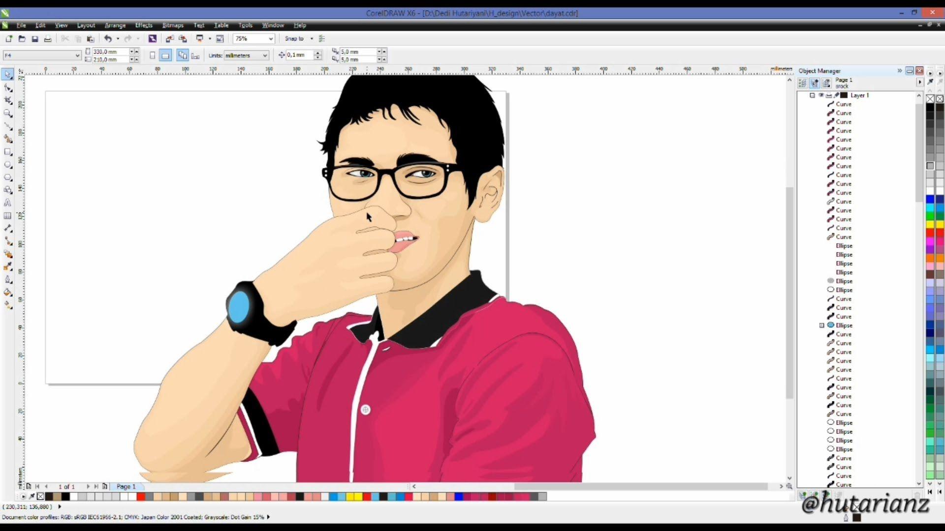 How to make VECTOR ART graphic corelDRAW full tutorial