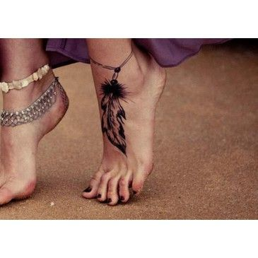 Tatuaje En El Pie De Una Pluma Tattoo Pluma Pie Tatuajes Fotos Y Imagenes De Disenos De Tatua Enkelbandje Tatoeages Henna Tatoeage Ontwerpen Tatoeage Voeten