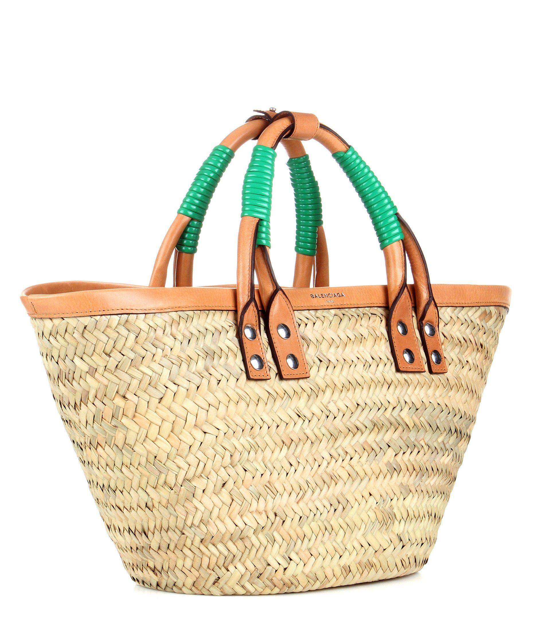zapatillas mejor elección oferta especial Balenciaga - Shopper Bistrot Panier S straw tote   mytheresa ...