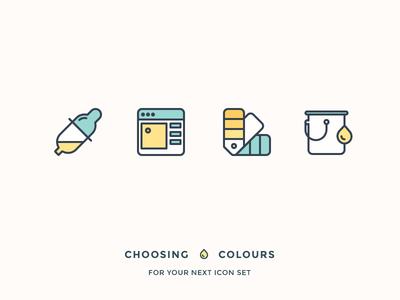 Choosing Best Colours For Your Icons Graphic Designer Portfolio Retro Logos Portfolio Web Design