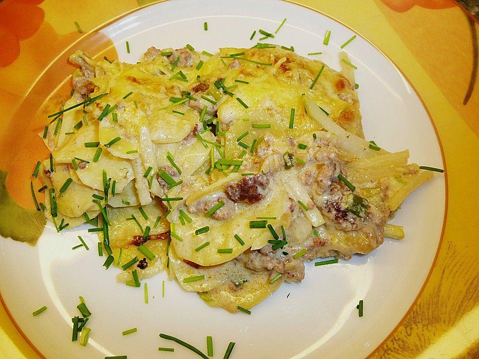 Rezept Kartoffel Hackfleisch kohlrabi kartoffel hackfleisch gratin diners low carb and lunches