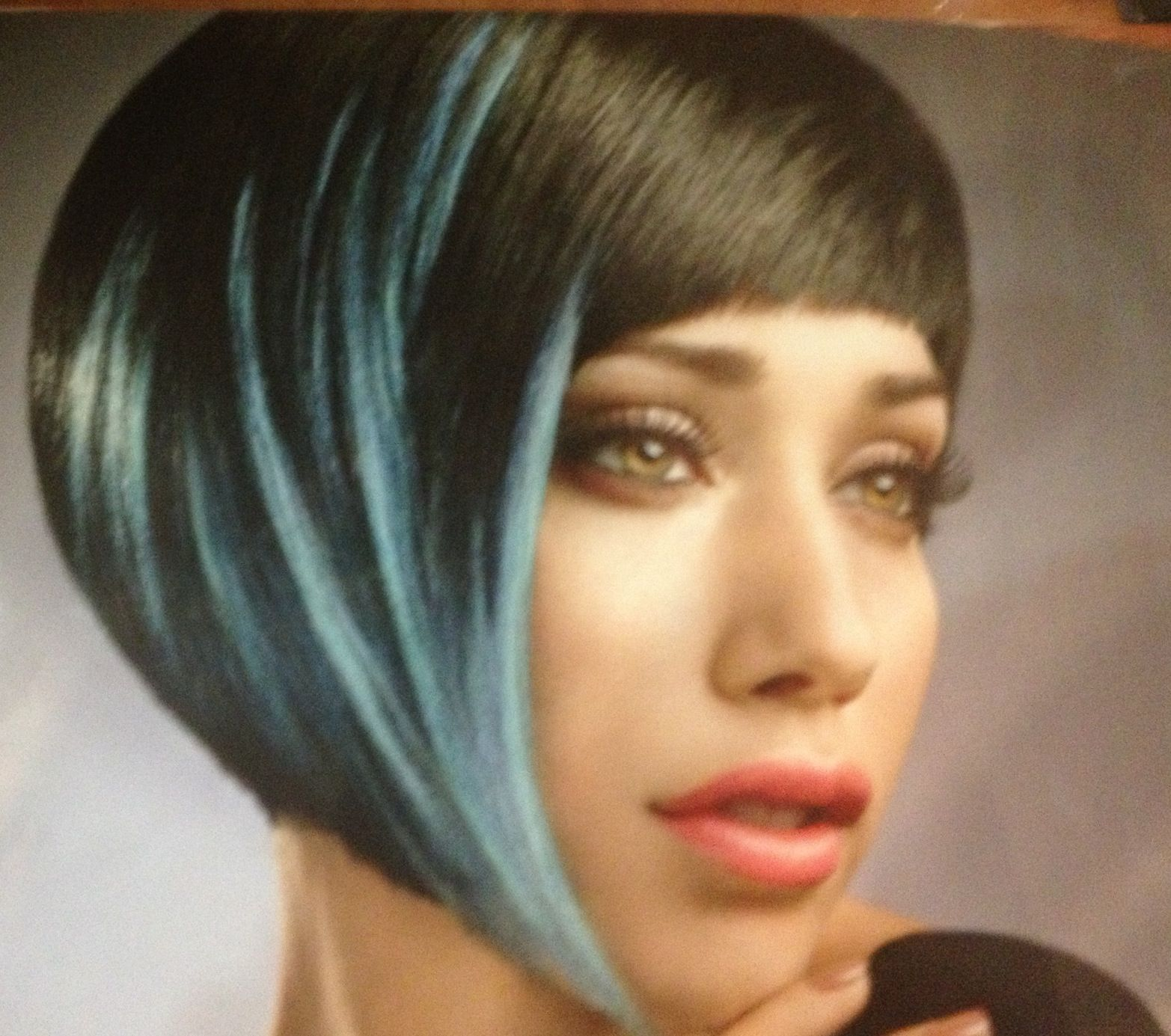 Pastel blue with dark hair health and beauty pinterest
