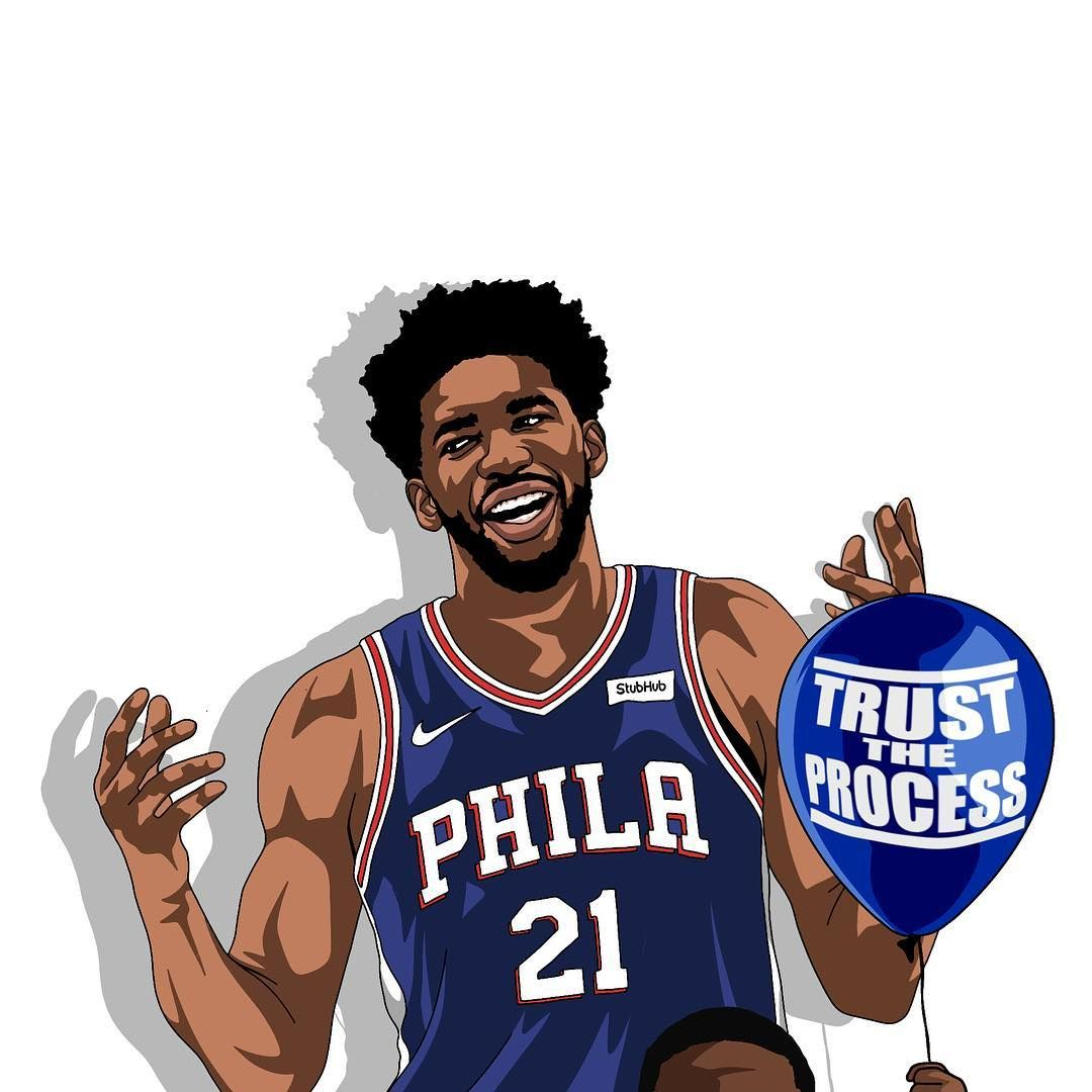 Dsiignr On Instagram Trust The Process Joelembiid Kevinhart4real Sixers Tag Them For Me In 2020 Trust The Process Sports Art Trust