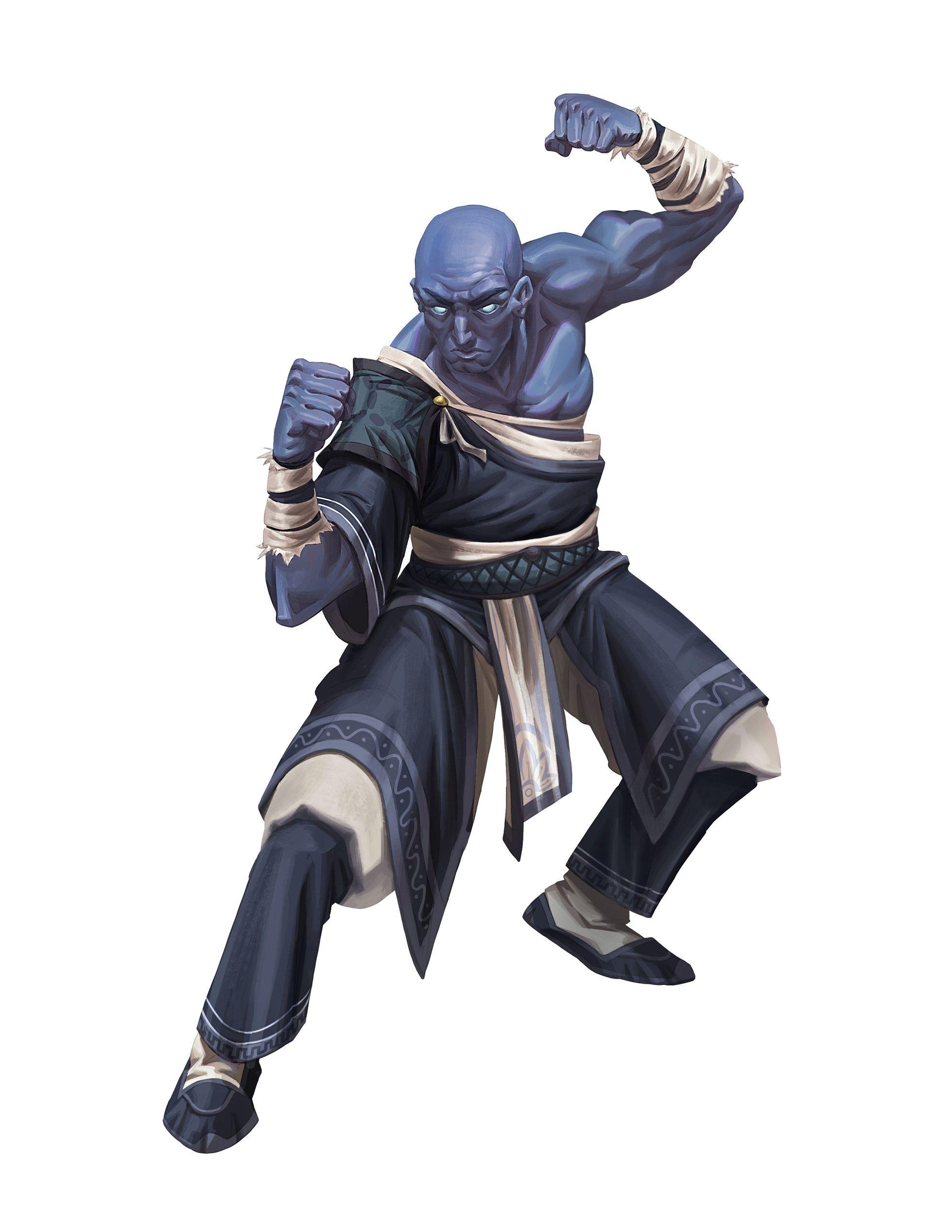 ArtStation - Blue monk dude - Paizo, William Liu ...