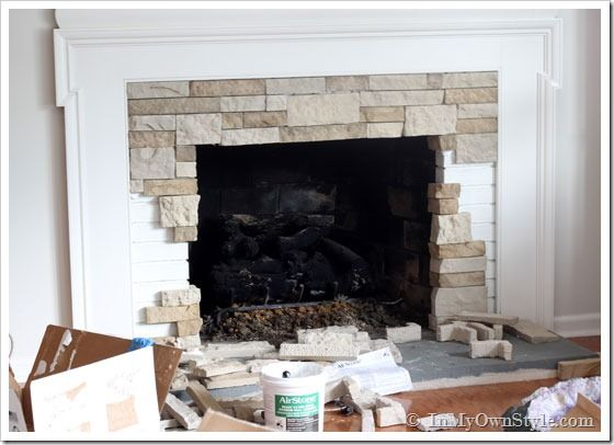 AirStone Fireplace Makeover on a DIY Budget | Airstone, Living ...