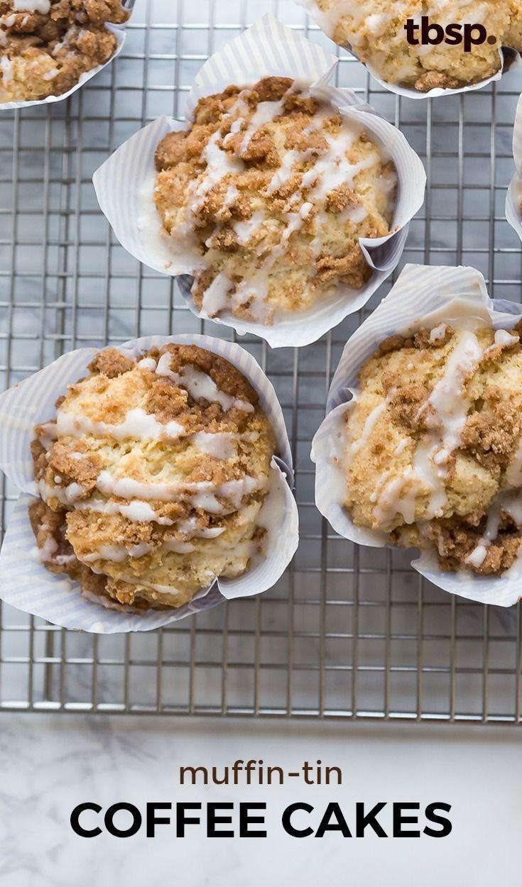 MuffinTin Coffee Cakes Recipe Breakfast in 2019