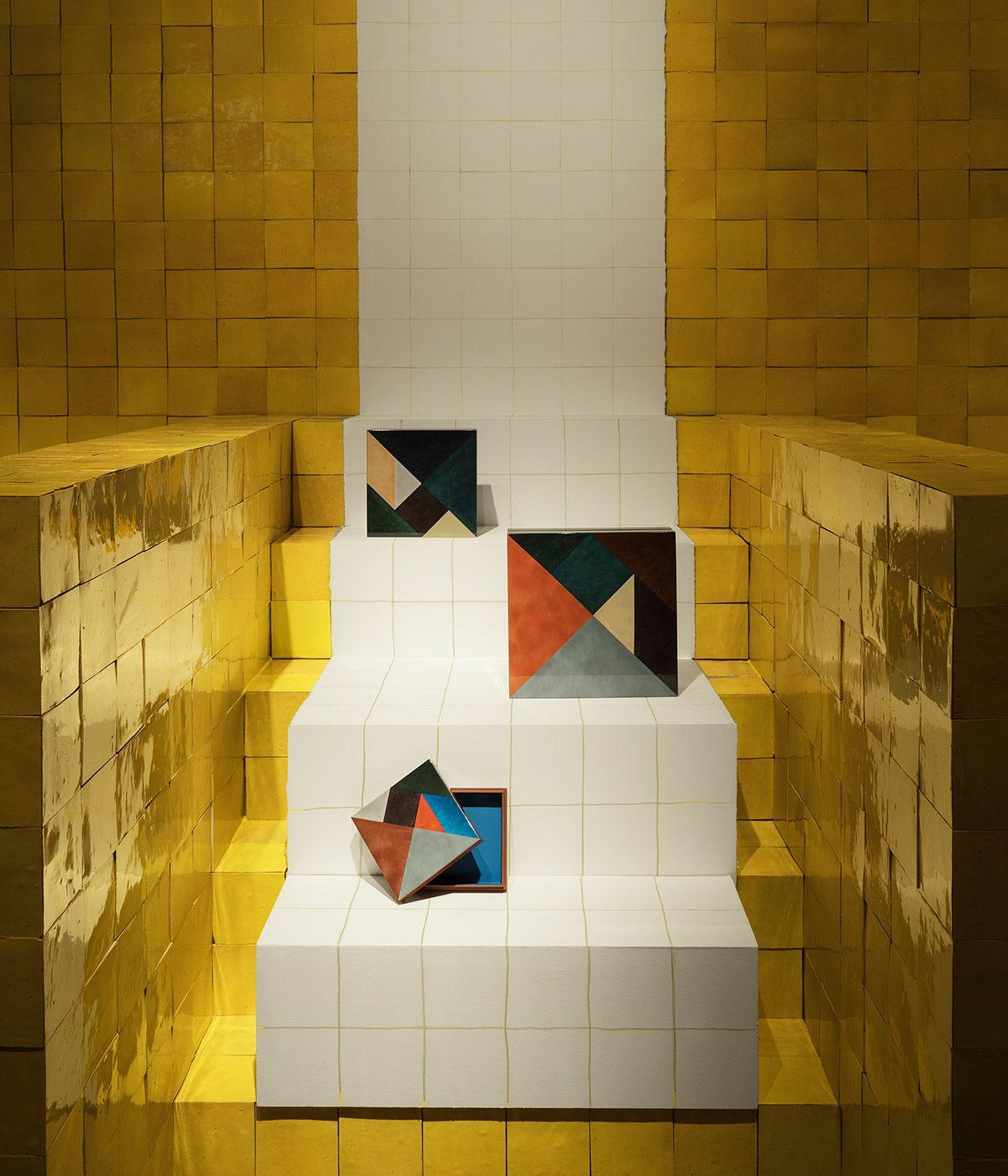 Hermes Brings Colour To Salone Del Mobile With Zellige Tiled Pavilions Milan Design Week Milan Design Design
