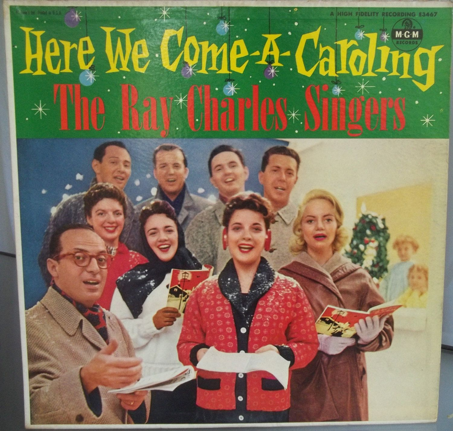 the ray charles singers here we come a caroling vintage record album vinyl lp