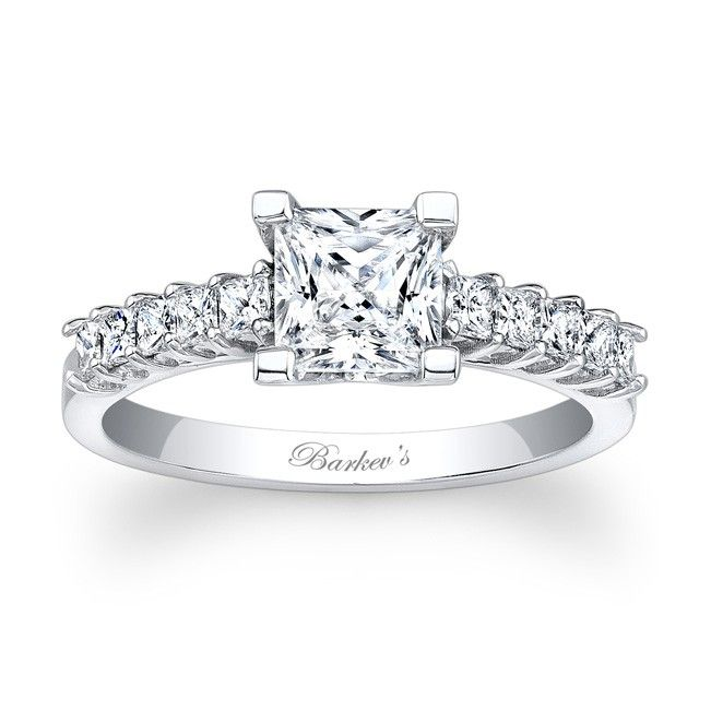 Princess Cut Engagement Ring 7860LW Classic traditiional