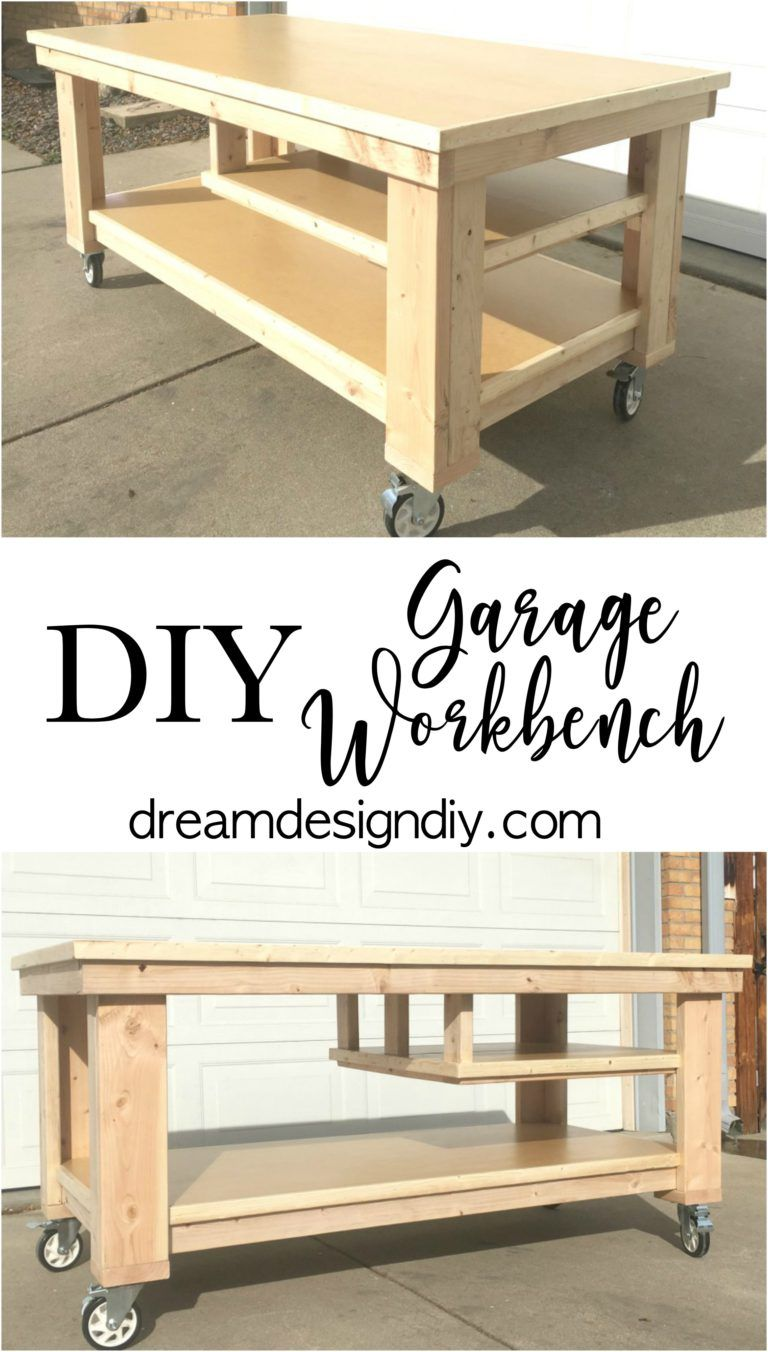 Need To Update The Space In Your Garage This Large Workbench Is Perfect For Working On Projects Storing And Organizing Tools An Extension