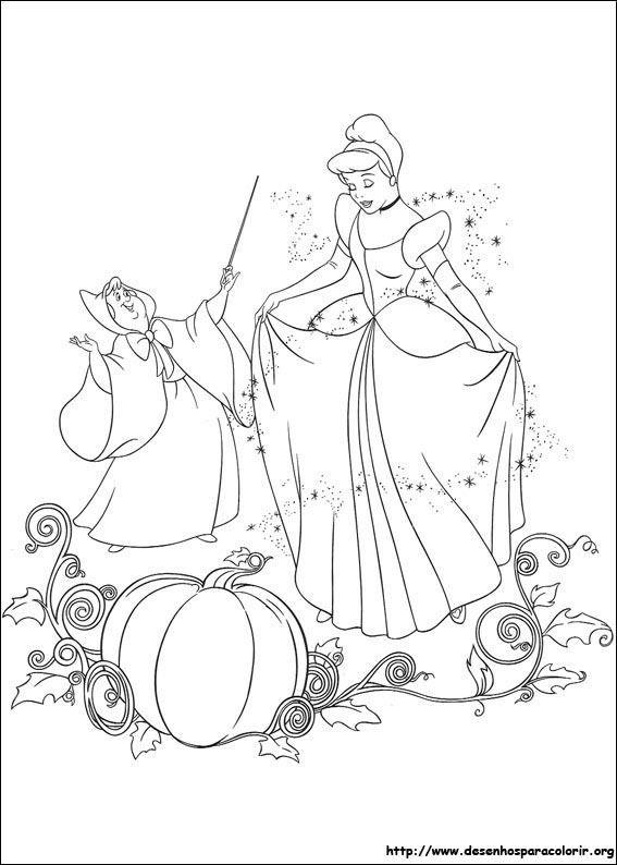 cinderela_10.jpg   Coloring page   Pinterest