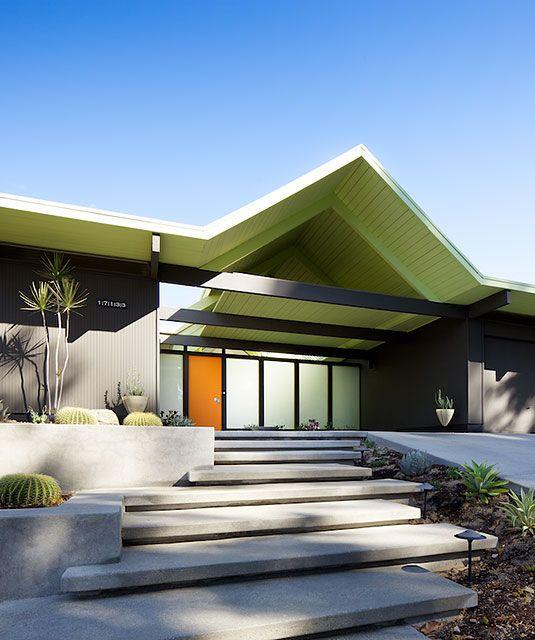 Exterior House Designs Exterior Modern With Concrete Patio: Eichler A-frame Balboa Highlands