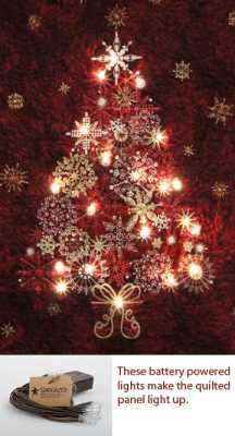 I Heard Quilters Were Adding Led Lights To Quilts But This Is The First Kit I Ve Seen Quite Christmas Tree Kit Christmas Tree Quilt Christmas Tree Quilt Kit