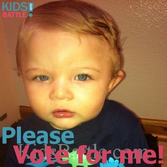 My child is the cutest! Please vote for my child on KidsBattle. KidsBattle is a cute kids tournament awarding 3 winners a week. Help my child to win: Vote and Spread the word. FREE to Play KidsBattle.com.