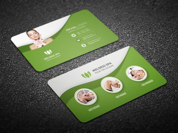 beauty spa business card by creative idea on creativemarket - Spa Business Cards