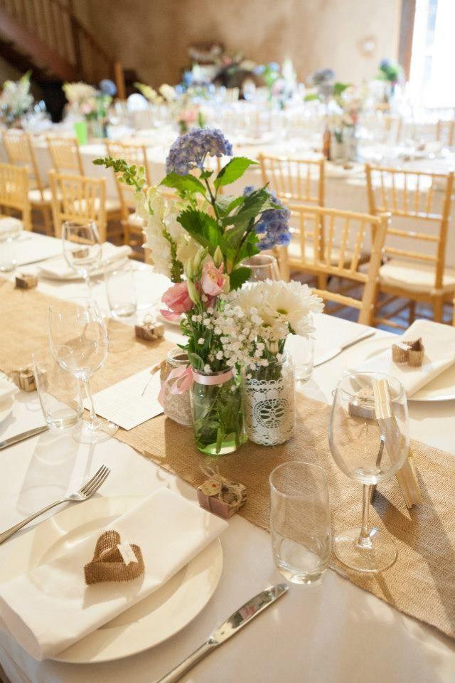 Diy Rustic Barn Wedding Reception Set Up Our Tables Were All Diy