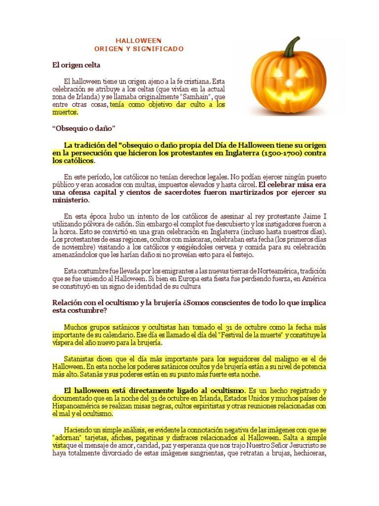 33 Halloween Significado Halloween Signs Halloween Special Clothes