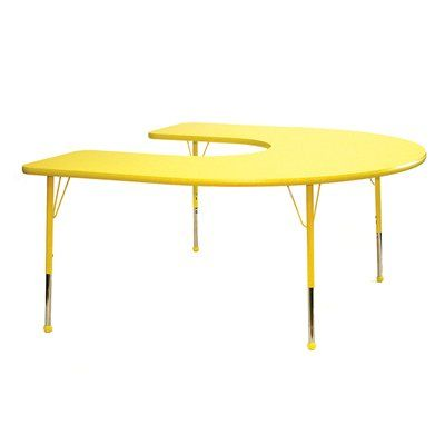 Shown in yellow with yellow trim and ball glide feet. #classroom #school #teacher
