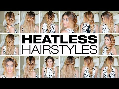 12 Easy Hairstyles For Any And All Lazy Girls Pretty Designs Heatless Hairstyles Easy Hairstyles Hair Styles
