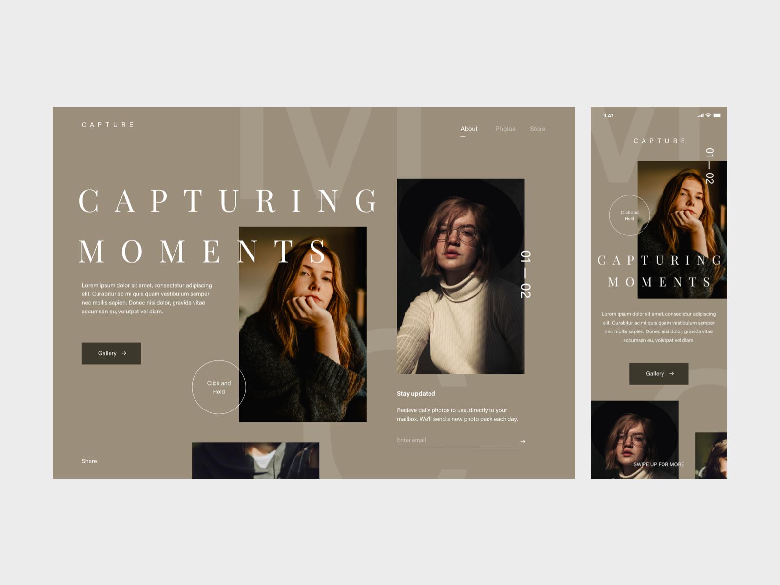 Photography Website Photography Website Photography Website Design Modern Web Design