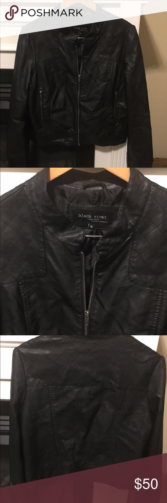 Leather jacket xl size - Wilson S Black Rivet Leather Jacket Xl Black Leather Worn Once Mint Condition Xl In Size Black Rivet Jackets Coats