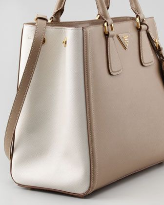 08e51449da3d Prada Saffiano two-tone...when I find that extra $2k lying around, I'm  getting this.