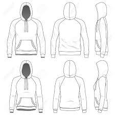 Blank Men S And Women S Raglan Hoodies In Front Back And Side Hoodie Vector Hoodie Illustration Hoodie Drawing Reference