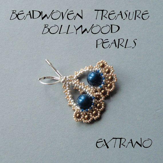Beaded earrings tutorial, fan shaped earrings, diy jewelry ...