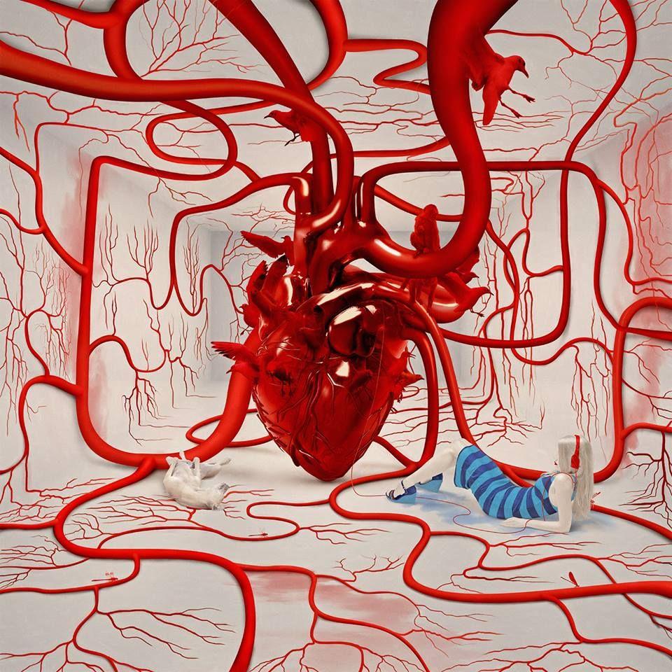 artist | Elena Vizerskaya | kinds of hearts | Pinterest | Anatomía ...
