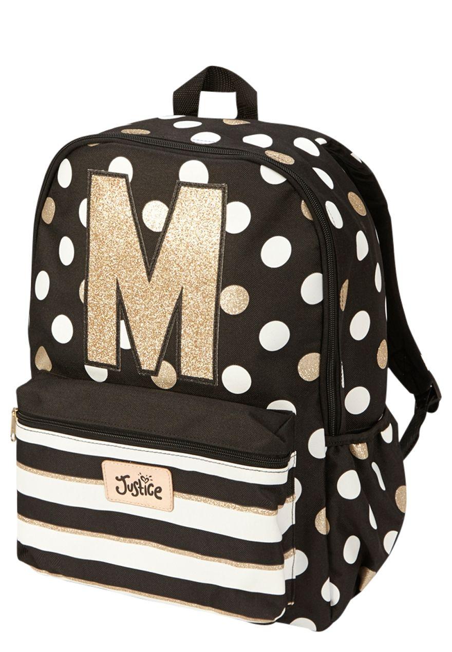 Initial Polka Dot Backpack Original Price 29 50 Available At Justice Justice Backpacks Cute Mini Backpacks Girl Backpacks