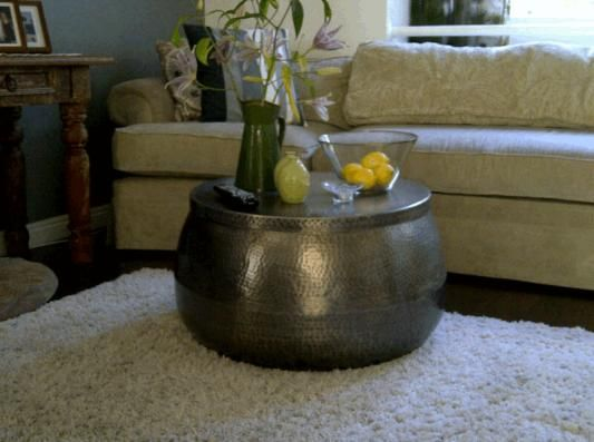 Amazing Cala Hammered Coffee Table