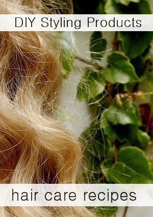 10 Natural Homemade Hair Styling Product Recipes Gel Hairspray Lotion Serum Homemade Hair Products Hypoallergenic Hair Products Natural Hair Gel