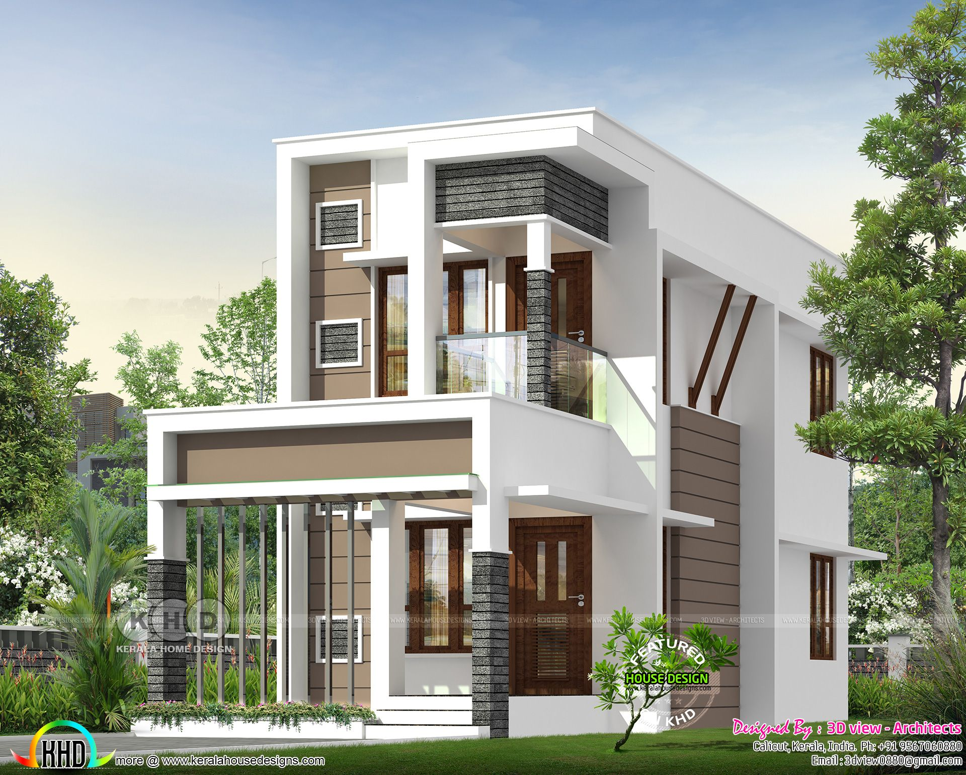 Small Double Storied House With 4 Bedrooms Kerala House Design Modern Exterior House Designs Double Story House