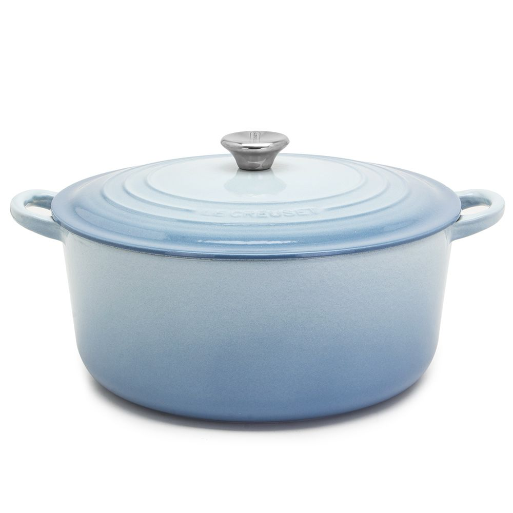 Le Creuset Coastal Blue 20cm Round French Oven 2.4L Cast Iron Casserole