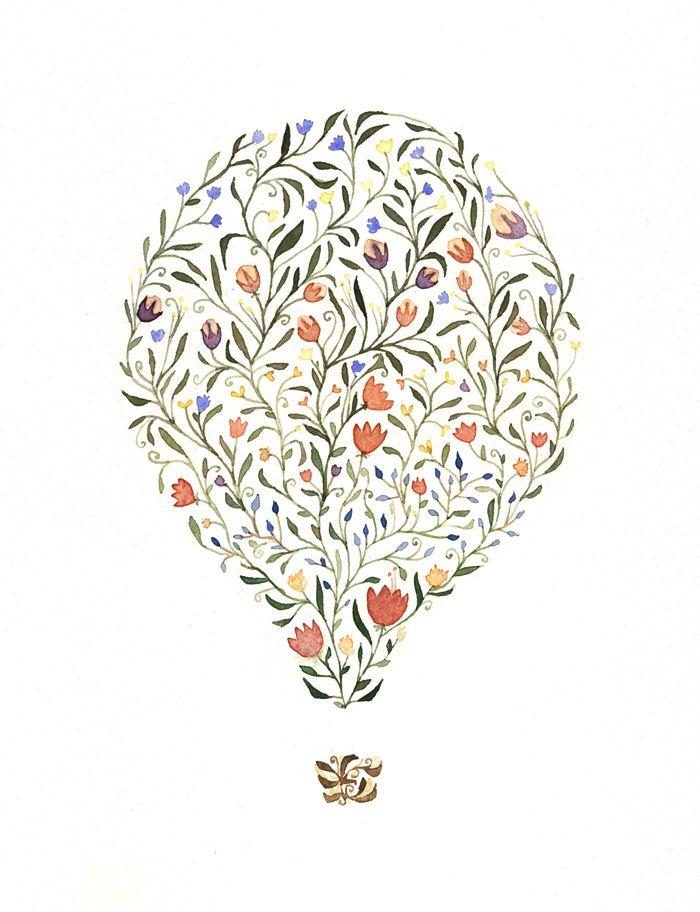 hot air balloon drawing tumblr - Google Search   Air balloon ... Rain Garden Designs Neska on