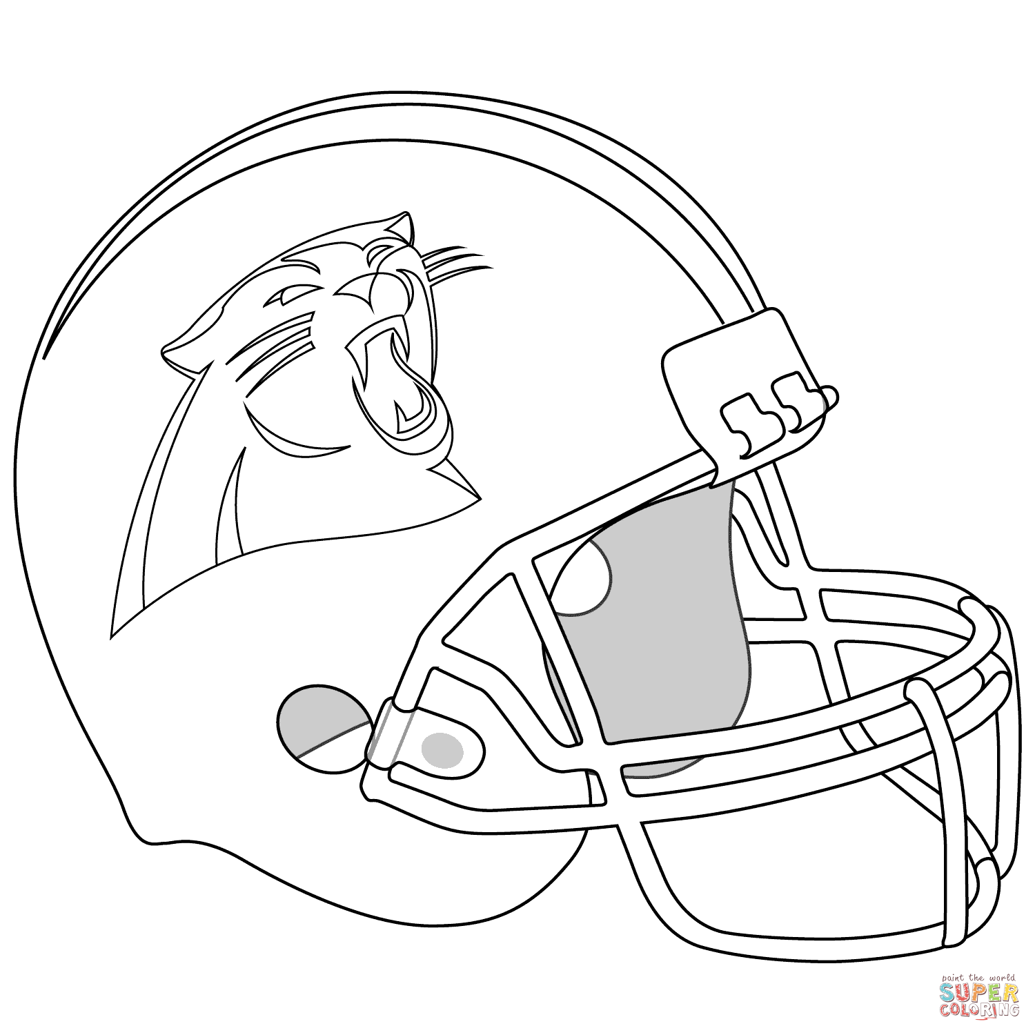 carolina panthers helmet  super coloring  coloring pages
