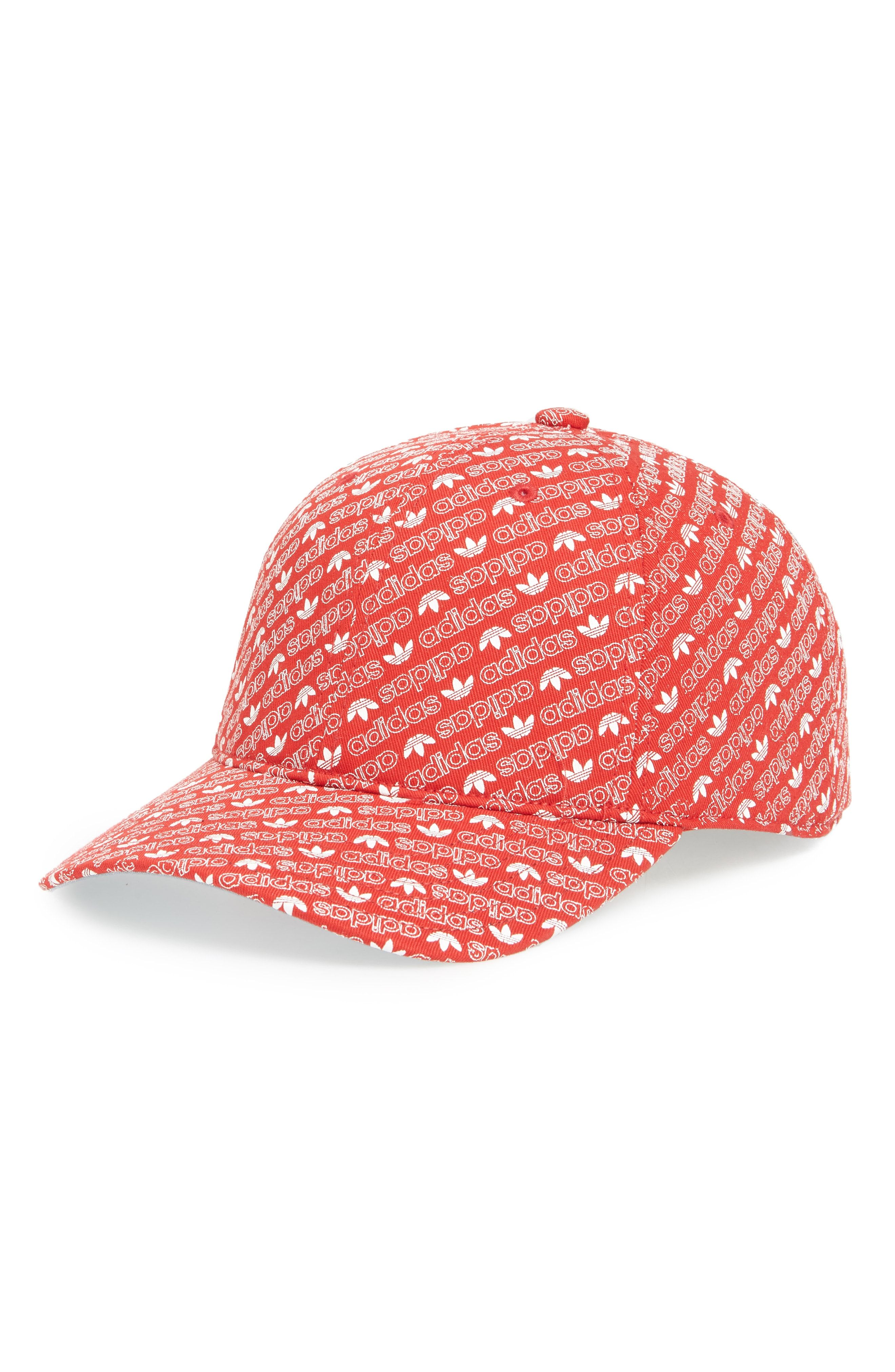 02ee2f05195 ADIDAS ORIGINALS RELAXED COTTON BASEBALL CAP - RED.  adidasoriginals ...