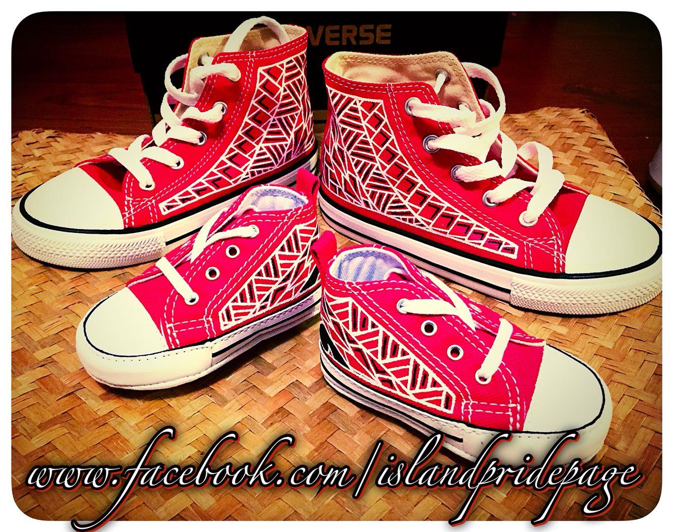 BabyToddler Handpainted Polynesian Converse | Decorated