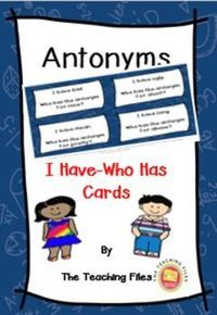 NEW FREEBIE!!! Students love to practice Antonyms with I Have-Who Has Cards!! This is part of a larger resource of Antonyms which includes I Have-Who Has Cards, Task Cards, and Memory Cards.