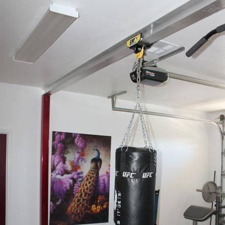 beam mounting equipment for punching bags that rolls