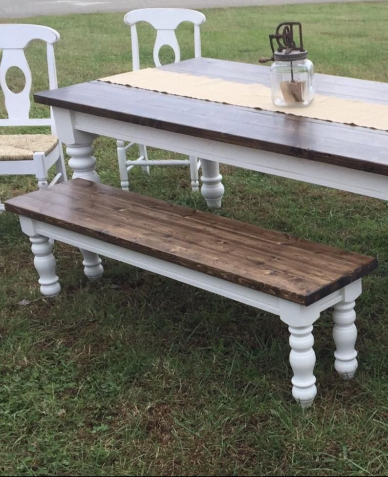 Chunky Maple Farmhouse Bench Legs Set of 4 Unfinished