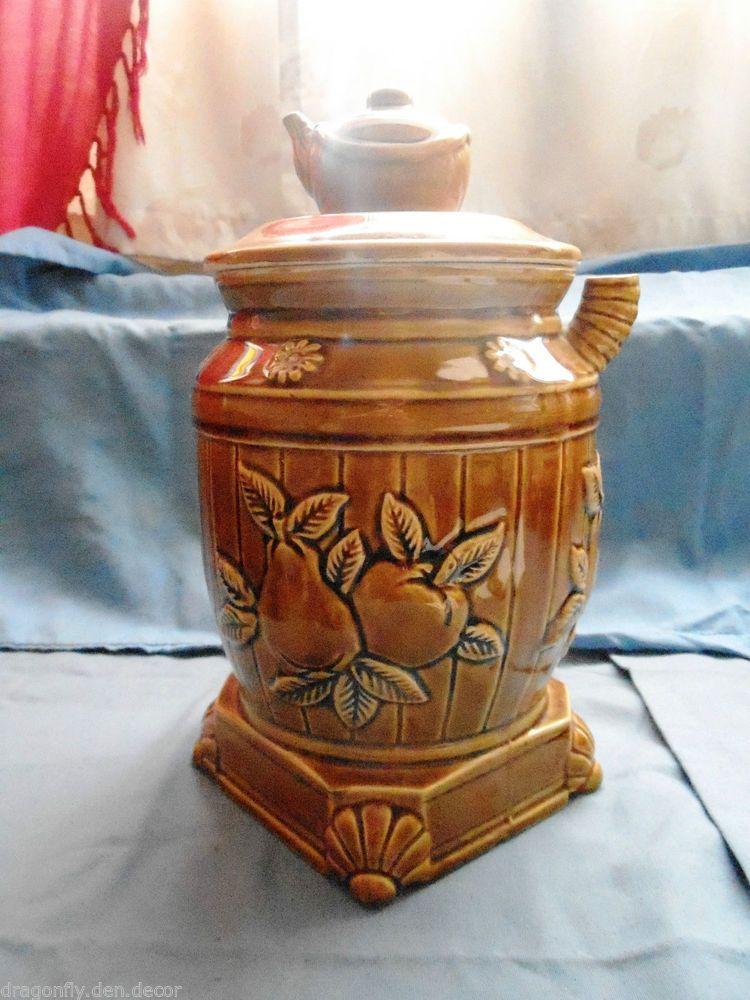 1970 39 S Vintage Tea Pot Shaped Cookie Jar Cookie Jars