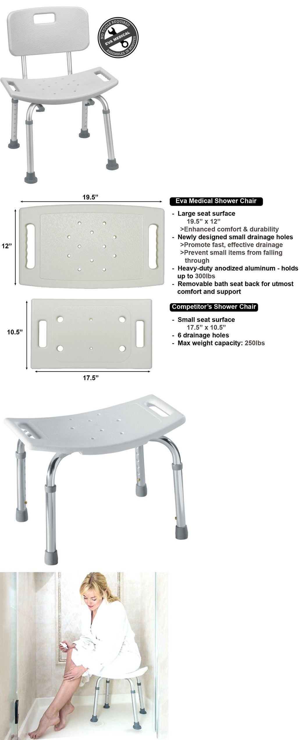 Shower and Bath Seats: Medical Tool-Free Spa Bathtub Adjustable ...