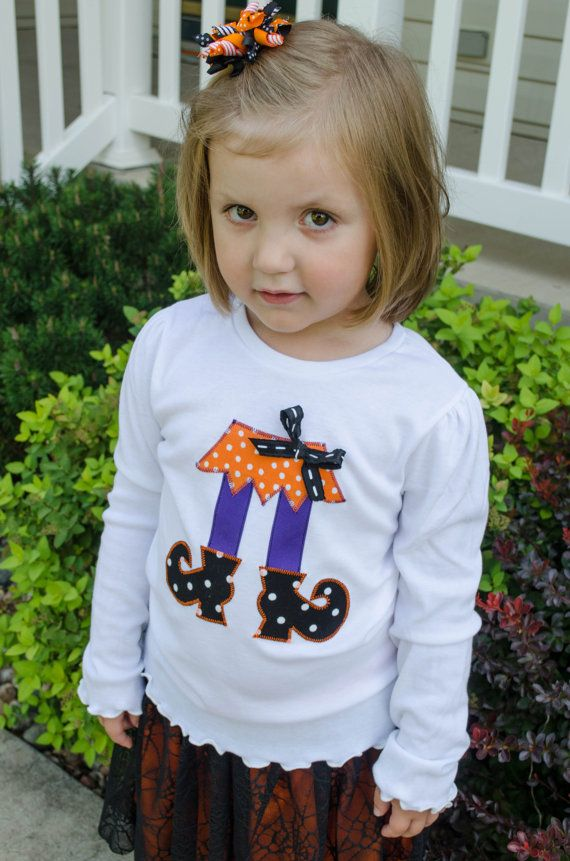 Witch feet Halloween applique shirt or onesie by NoPaparazziPlease, $15.00
