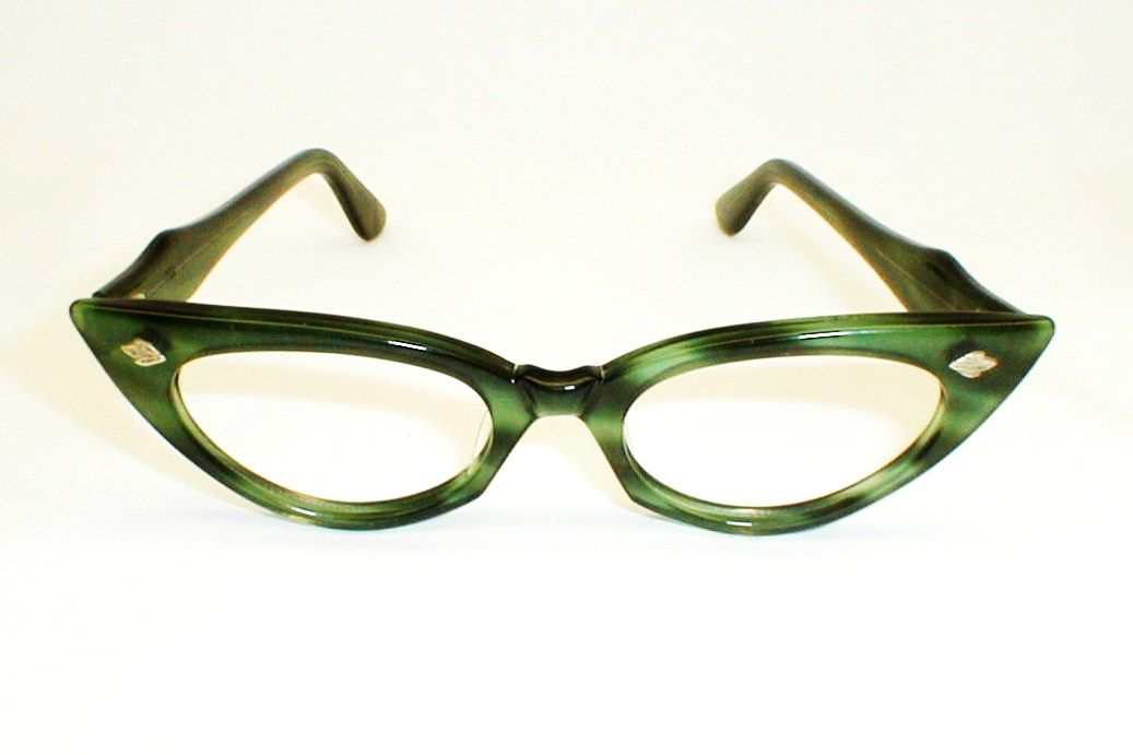 swank green and black eyeglasses frame france deparee ii small