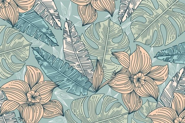 Download Linear Tropical Leaves Background for free