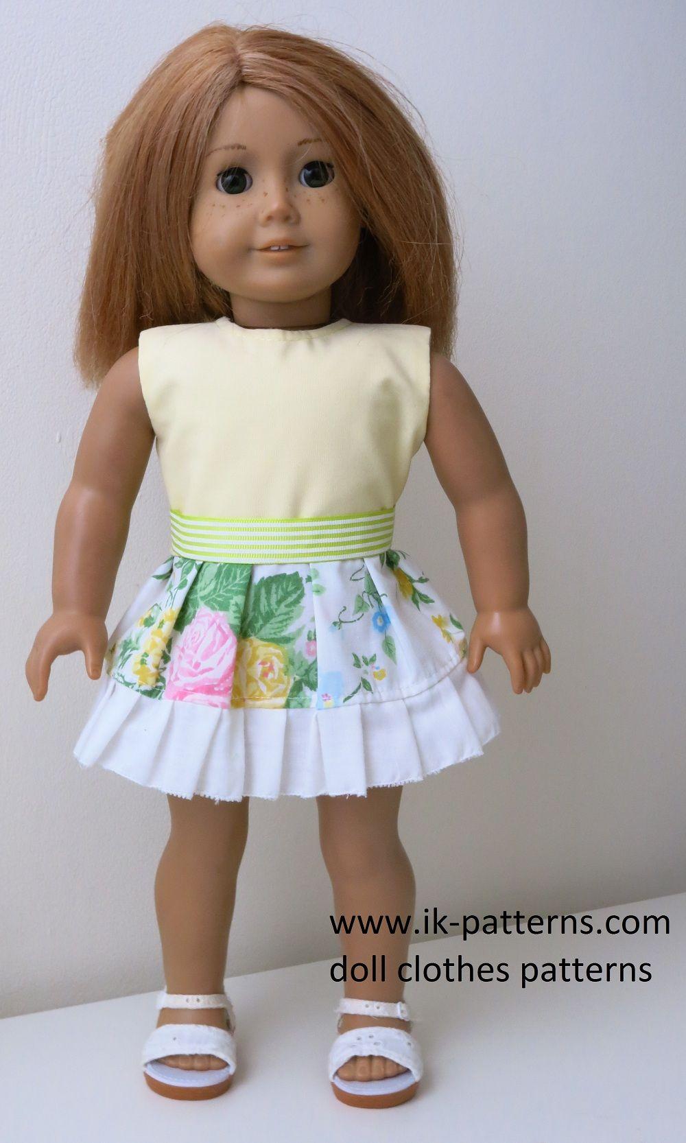 Pattern AG4D02A Dress Set pattern bundle 18 inch doll