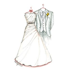 Give A Christmas Gift They Will Love Forever Wedding Dress Sketch And Suit Is