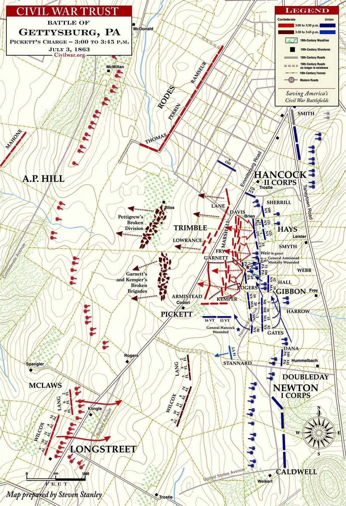 Gettysburg Us Map.Pin By Hal Sharpe On Gettysburg Campaign And Battlefield Pickett S