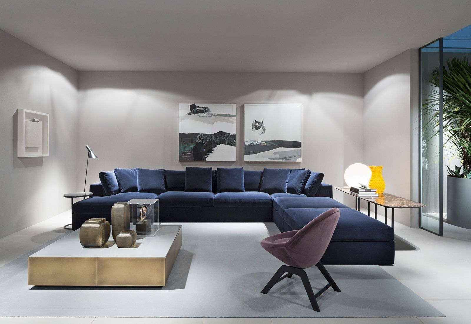 Salone Del Mobile 2016 Blue Velvet Sectional By Meridiani Sofa